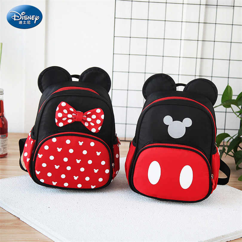 cb0d15e520eb Disney 2019 New Mickey Mouse Backpack Kids Girls Boy School-Bag Cute Children  Backpacks Polyester