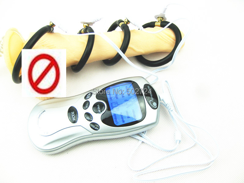 Adult Games Electro Therapy Massager Kit,Electric Shock Penis Ring Cock Ring,Sex Medical Themed Toys For Him
