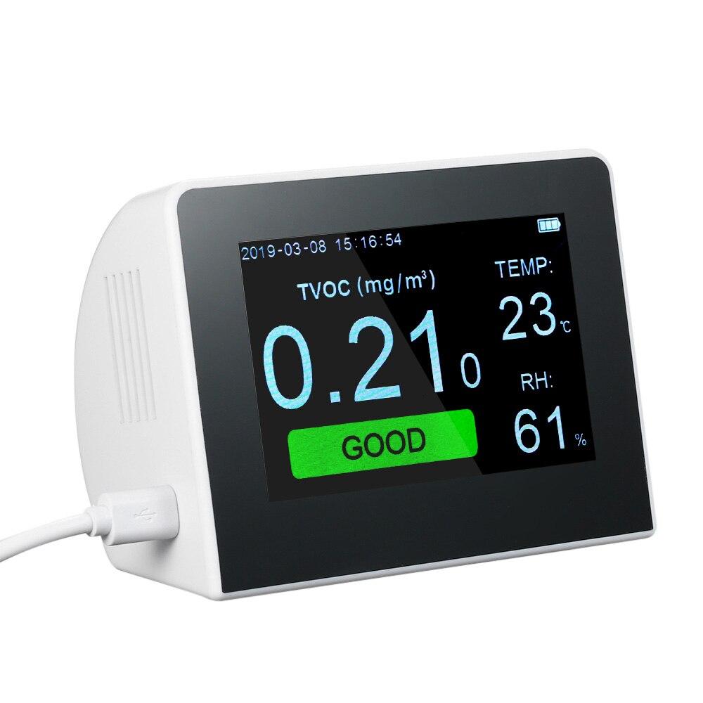 PM2.5 tcov formaldéhyde CO2 détecteur de qualité de l'air moniteur mètre semi-conducteur technologie de détection système de surveillance de la qualité de l'air