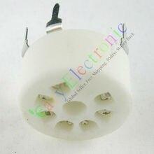 Wholesale and retail 16pcs MINI 7pin Ceramic vacuum tube sockets valve base B7G 6AU6 EF95 6C4 6X4 6066 free shipping