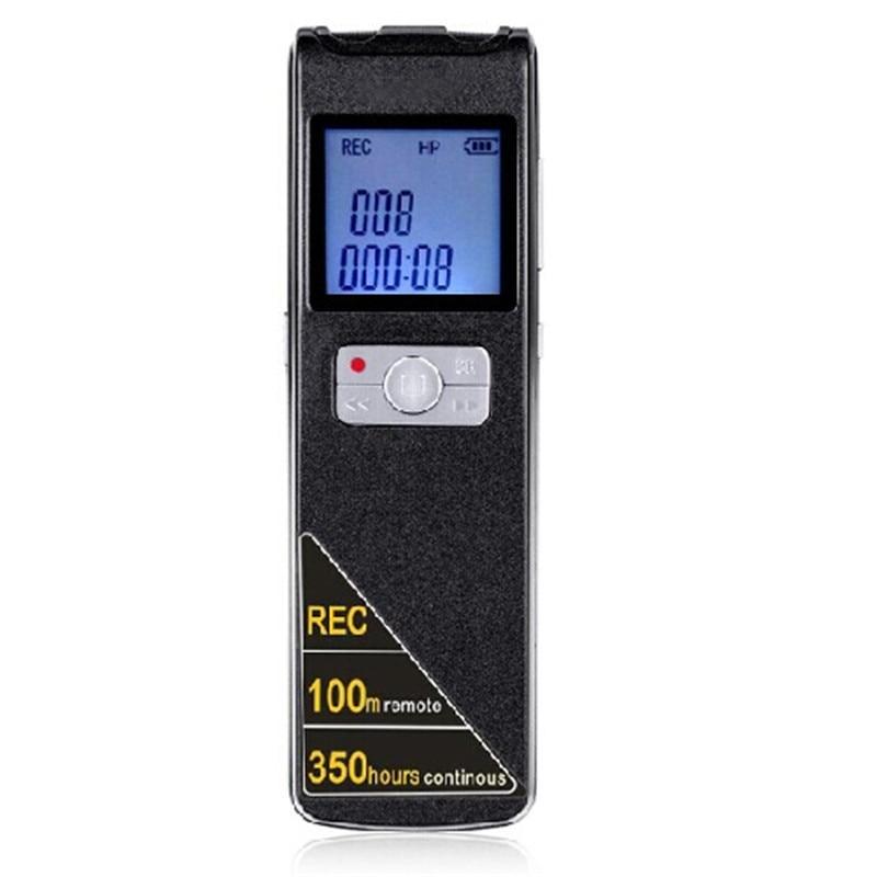 Livraison gratuite!! 100 mètres d'enregistrement à distance sans fil Super longue durée 350 heures Mini enregistreur vocal Audio numérique USB professionnel