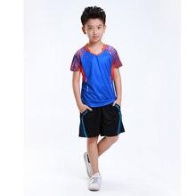 Adsmoney, комплект для бадминтона, детский спортивный костюм(рубашка+ шорты), теннисная рубашка, быстросохнущая ткань, высококачественные теннисные костюмы для больших детей
