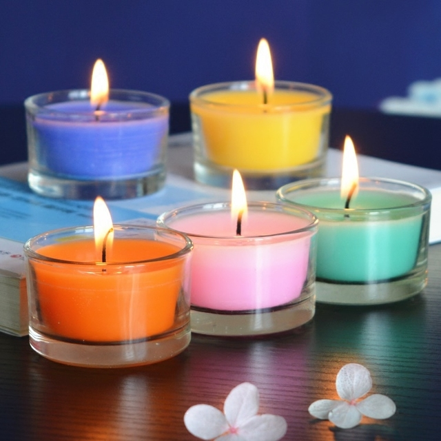 2pcs/lot Aromatherapy Candle Wedding Romantic Scented Candles Party Candles Flameless Wax Candles gift Last about 6hours