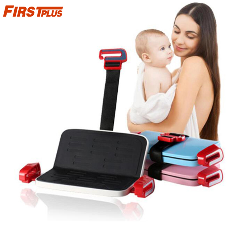 Foldable Child Safety Seat Increased Pad Portable Car Booster Seat Belt Converter Adjustable For 3-12yrs Kids