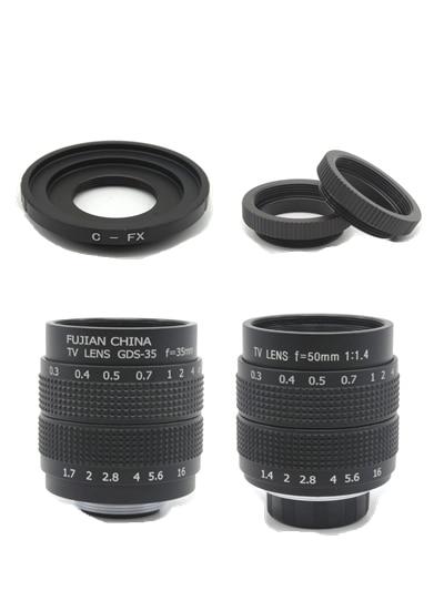 Fujian CCTV 2in1 35mm F1.7 lens/50mm F1.4 lens TV Movie lenses for Fuji Fujifilm X-E2 X-E1 X-Pro1 X-M1 X-A3 X-A2 X-A1 X-T1 C-FXFujian CCTV 2in1 35mm F1.7 lens/50mm F1.4 lens TV Movie lenses for Fuji Fujifilm X-E2 X-E1 X-Pro1 X-M1 X-A3 X-A2 X-A1 X-T1 C-FX