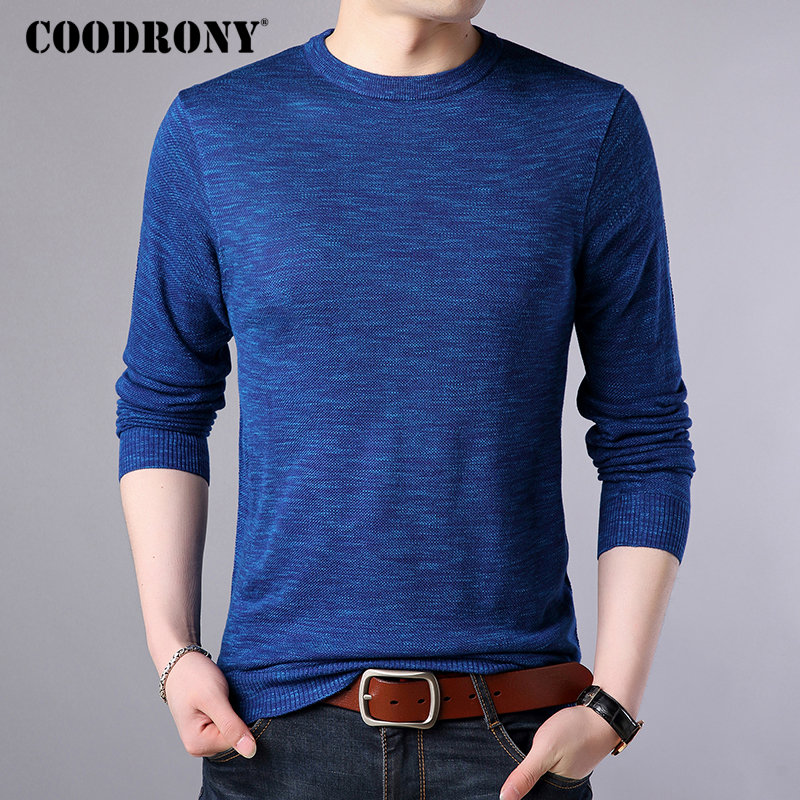 COODRONY Sweater Pullover Men Clothes 2018 Autumn Winter Top Soft Warm Cashmere Wool Mnes Sweaters Casual O-Neck Pull Homme 8234