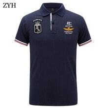 Men polo 2018 Summer High Quality Brand Cotton Polo Shirt Business Casual Pilot Polo Shirt Solid