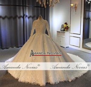 Image 4 - Vestido de noiva abendkleider, vestido de baile para iniciantes, fotos reais, alta qualidade, 2020