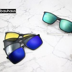 Image 3 - 3174 Magnet Sunglasses Clip Mirrored Clip on Magnetic Sunglasses Clip on Glasses Men Polarized Clip Custom Prescription Myopia