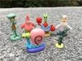 Original da Viacom Spongebob 6 pcs 2-3 cm Mini Figura Patrick Estrela Lula Molusco Sandy Bochechas Mr. Krabs Gary plâncton New Solto