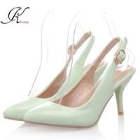2015 Summer Style Mint Green Heels Women Pumps Plus Size 4 11 Sexy Cheap Online Store
