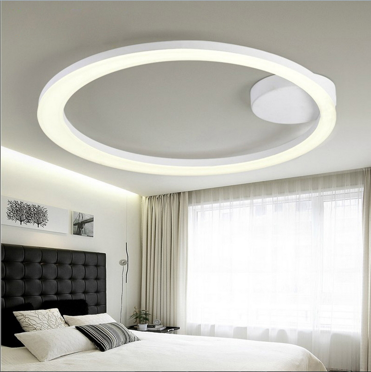 White Acrylic LED Ceiling Light Fixture Flush Mount Lamp Restaurant Dining  Room Foyer Kitchen Bedroom Hotel Lighting Fitment In Ceiling Lights From  Lights ...