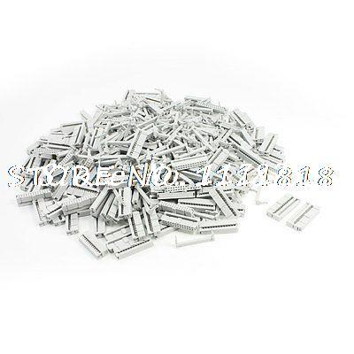 200 Pcs Light Gray Dual Row 26 Pin IDC Socket Connector
