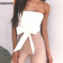 0728323493 Sexy Women Tube Tops Fashion Bow Tie Tube Tops Summer Off Shoulder Shirt  Casual Short Blouse