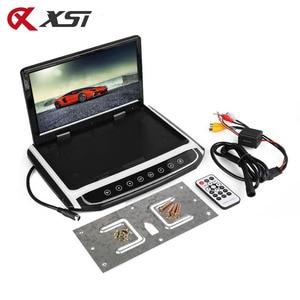 Image 5 - XST 17.3 인치 자동차 지붕 마운트 모니터 HD 1080P 비디오 USB FM HDMI SD 터치 버튼 천장 MP5 플레이어와 TFT LCD 플레이어 아래로 뒤집기