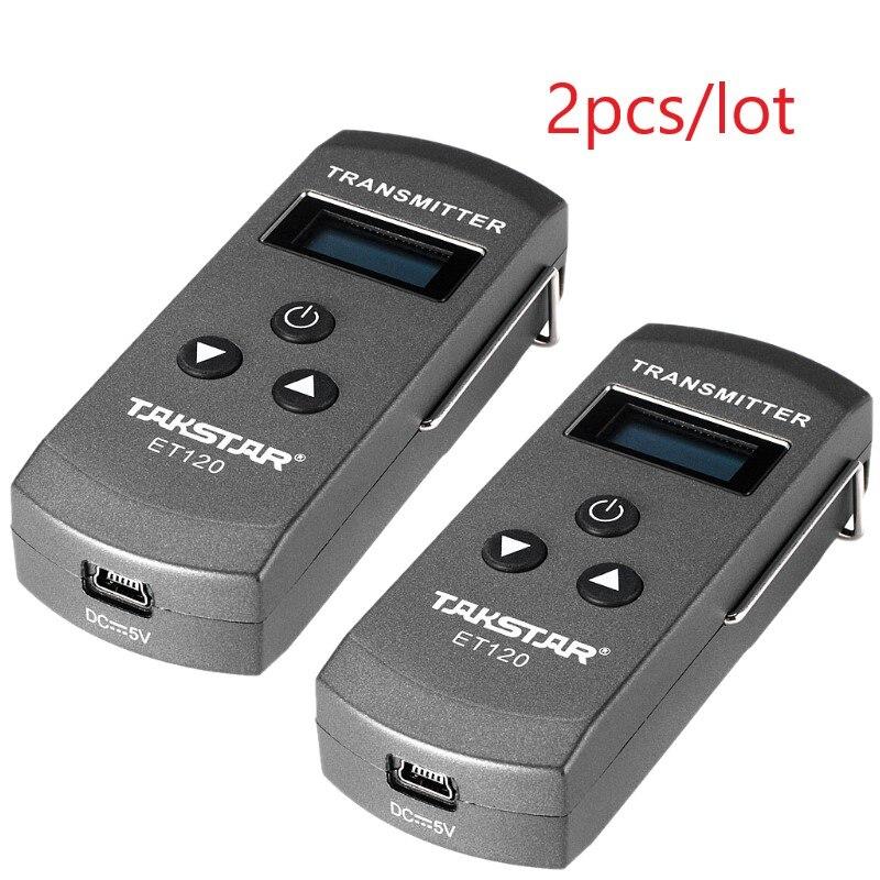 2 Teile/los Takstar Et120 Auto Drahtlose Revers Mikrofon 200 Kanal Fm Radio Wireless Transmitter