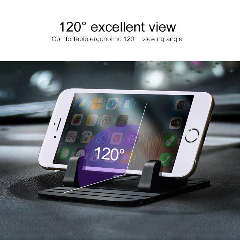 Dudukan Mobil Ponsel Holder Stand GPS Soft Silicone Anti Slip Tikar Desktop Stand Bracket untuk iPhone X 8 7 samsung Note 9