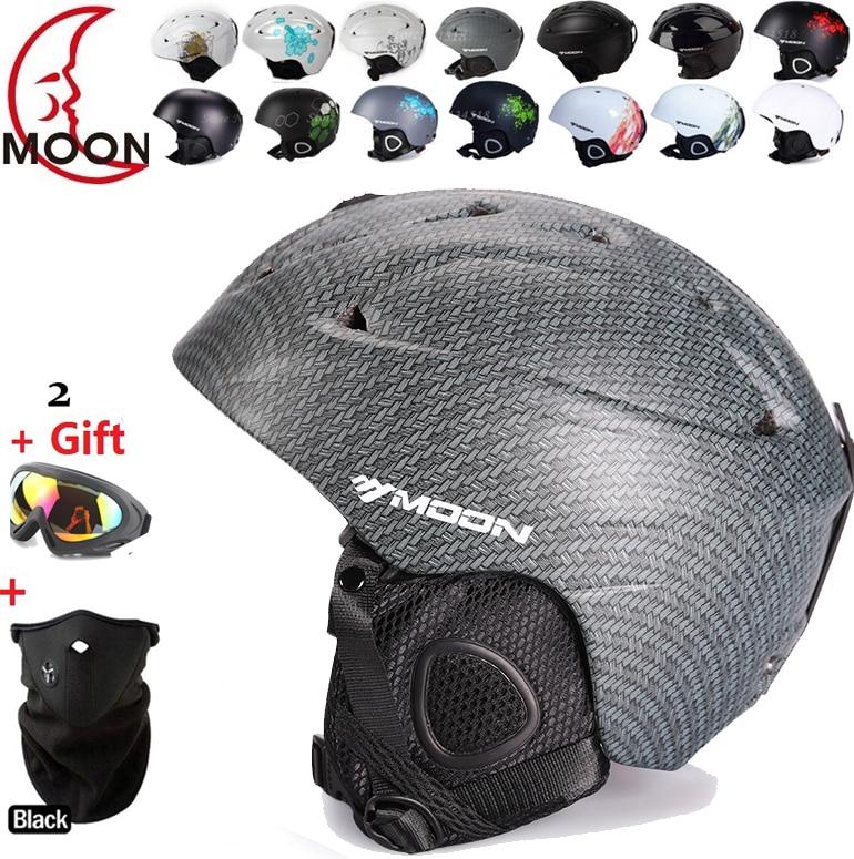 ФОТО  authentic ski helmet extreme sports protective gear veneer double plate warm wind Snow Helmets Adult Children of m