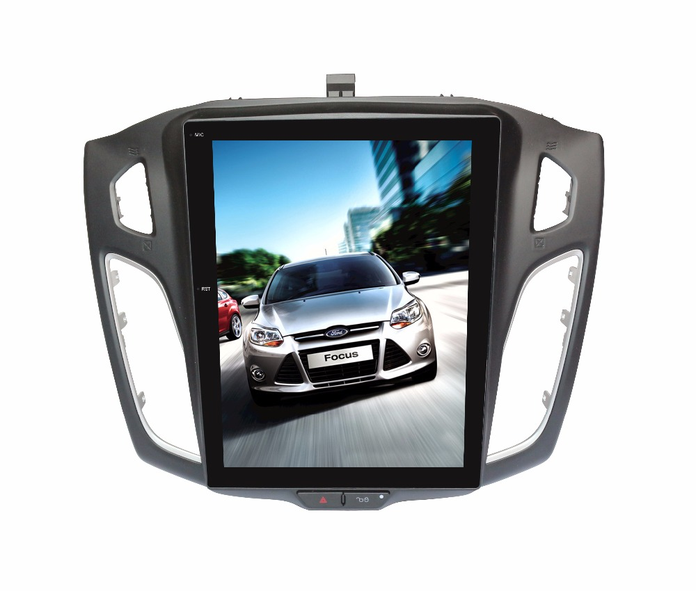 Android 1/2GB 16/32/64GB GPS Navi 10.4 Vertical Screen Tesla Style Car DVD Multimedia for Ford Focus 2012 15 with BT/RDS/Radio