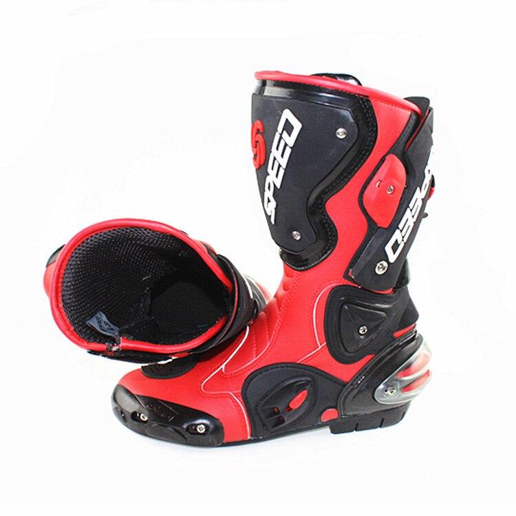 Высокое качество pro-biker, защитные штаны для мотоцикла Скорость обувь Автогонки сапоги внедорожные сапоги конкуренции обувь