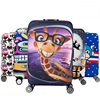 ALYMLH Brand Cartoon Luggage Dust Cover Women Travel Elastic Suitcase Protective Covers Dust For 19 32
