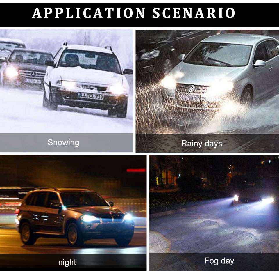 Foxcnsun LED H4 Car Bulbs 6500K Auto H7 LED Headlight Fan-less Head Lamp SUV 50W CSP Chips H11 9005 9006 led H3 H1 Bulbs H15 H8 (16)