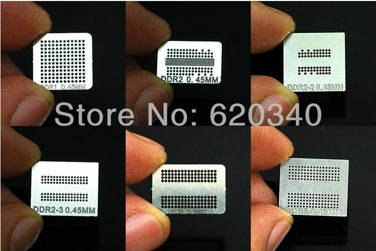 2 set BGA Directly Heated Memory (DDR+DDR2+DDR2-2+DDR2-3+DDR3+DDR5=6pcs/set) bga reballing kit XBOX360 Memory stencil