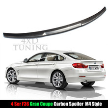 M4 Estilo para BMW F36 Spoiler 2014 2015 2016 2017 4 Series F36 Coupe Fibra De Carbono Tronco Spoiler Traseiro 4-Porta 420I 428I 435I