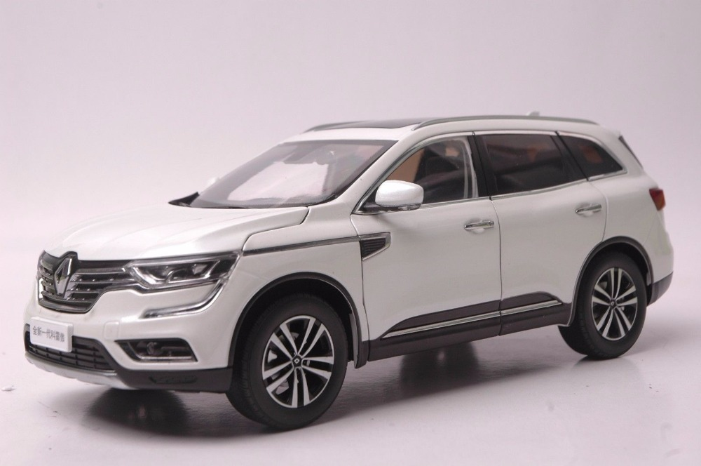 1:18 Diecast Model for Renault Koleos 2017 White SUV Alloy Toy Car Miniature Collection Gift 1 18 vw volkswagen teramont suv diecast metal suv car model toy gift hobby collection silver