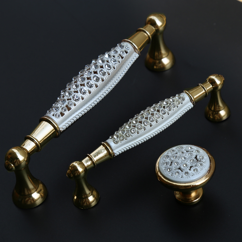 96mm 128mm glass crystal wine cabinet wardrobe kitchen cabinet door handles golden drawer tv cabinet knobs pulls fashion handles 96mm fashion deluxe glass clear black crystal villadom furniture decoration handle 3 8 gold drawer cabinet wardrobe door pulls