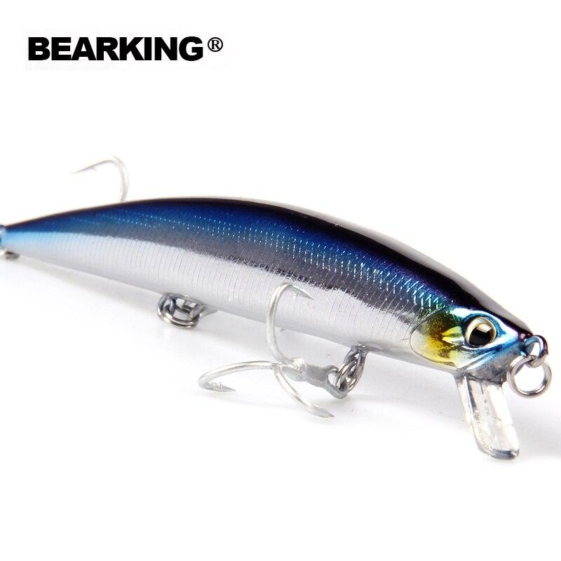 Venta al por menor 2016 buenos cebos de pesca minnow, cebos profesionales de calidad 14 cm/18g, crankbaits modelo caliente bearking panceil cebo popper