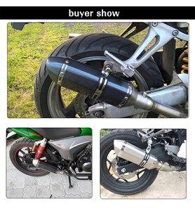 Image 5 - ZS Racing 51MM Motorcycle AK Exhaust Pipe With Muffler Moto Bike Pot Escape For Yamaha Honda KTM Kawasaki Ducati Slip on