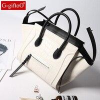 Women Classic Luxury Genuine Leather Smiling Face Bag Handbags Bat Wings Lady Smiley Tote Phantom Famous Purse