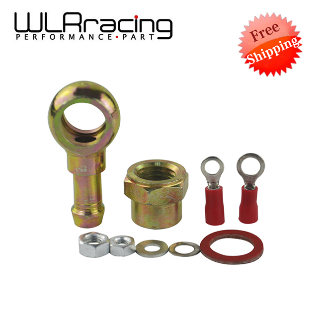 WLR RACING - FREE SHIPPING 044 FUEL PUMP BANJO FITTING KIT HOSE ADAPTOR UNION 8MM OUTLET TAIL WLR-FK046