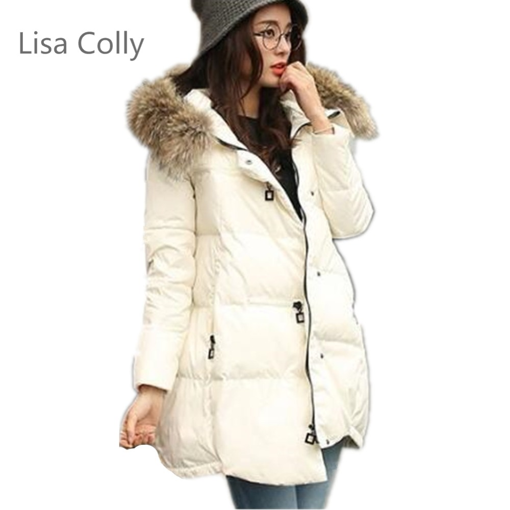 Lisa Colly Plus 5XL Fashion Winter Coat Jacket Women New Parka Casual Outwear Long fur coat Thickening Cotton Coat with Hooded 2017 winter coat women jacket parka casual outwear military hooded thickening cotton coat winter jacket fur coats women clothes