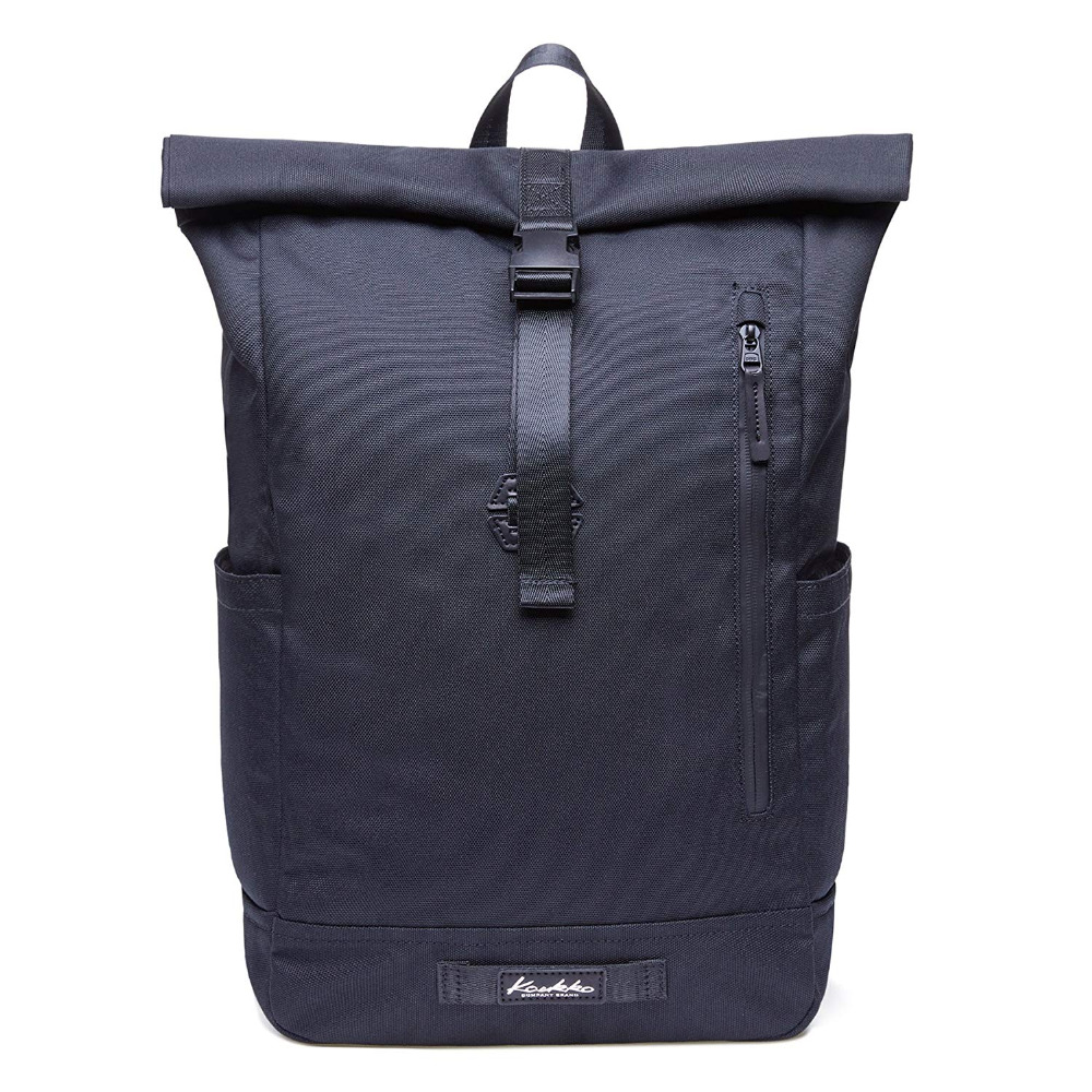 KAUKKOBackpack with Top Folding Cotton Canvas Everyday Backpack Vintage Sack Water repellent and Flexible for Men