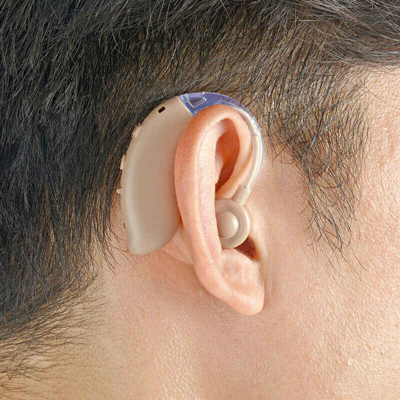 1Pc Rechargeable Nirkabel Bluetooth Alat Bantu Dengar Headphone BTE Penambah Suara Amplifier Digital untuk Orang Tuli Orang Tua