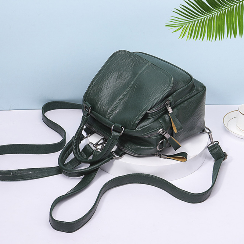 RanHuang New 2019 Women Small Backpack Pu Leather Fashion Backpack Teenage Girls Casual Bags Double Shoulder School Bags Black