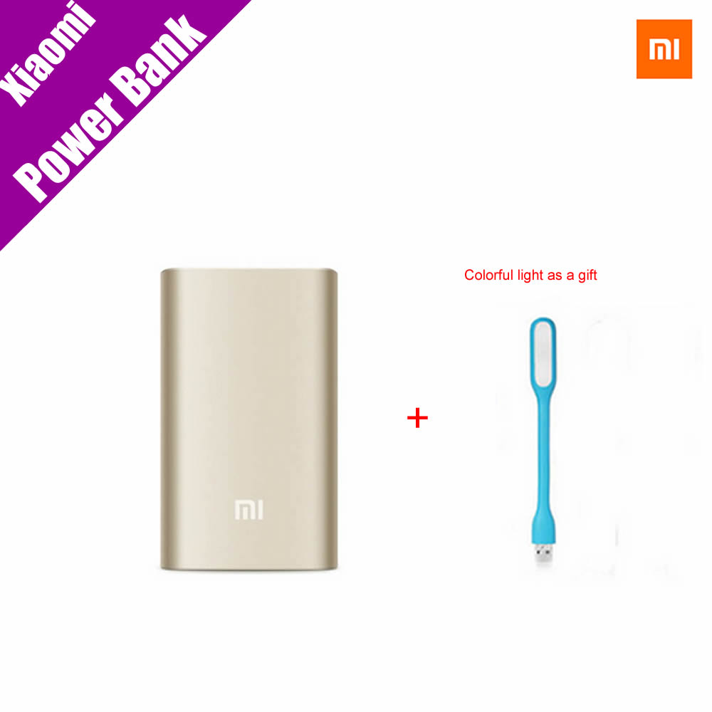 Original font b Xiaomi b font Power Bank 10000mAh Gold font b Xiaomi b font Portable