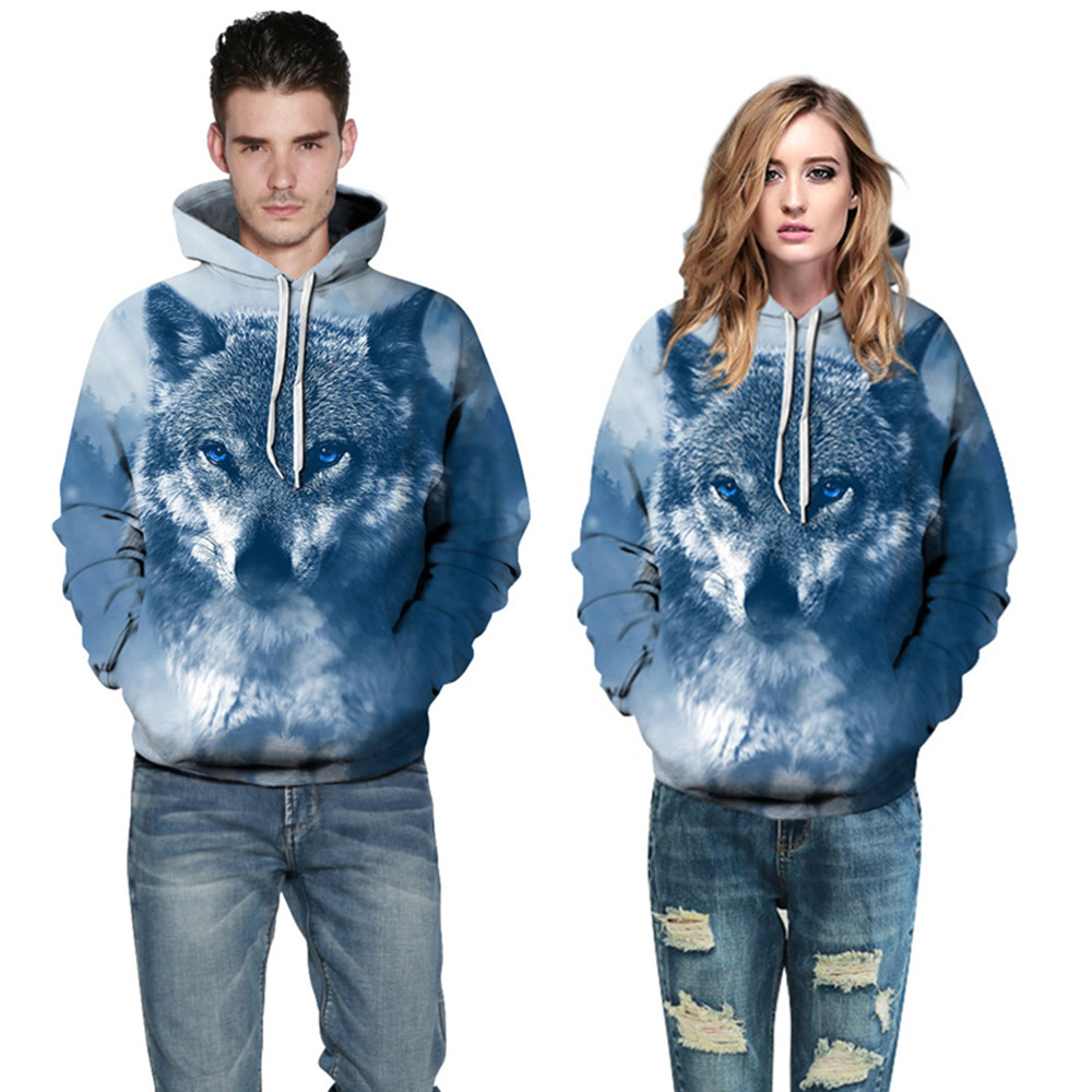 Men&Women Hoodies Wolf 3d Print Tracksuits Harajuku Hip Hop Sweatshirts Wolf 3d Print hoodies HTB1gsG6XEUIL1JjSZFrq6z3xFXa5