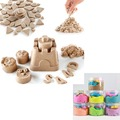 250g Magic Sand + 6 molds Kids Play Fun Therapy Indoor Game dynamic Amazing DIY educational toys Children toys Mars Space Sand