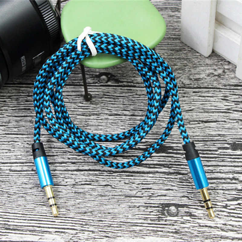 Male to male 3.5mm audio aux cable 1m jack to 3.5 mm jack Car aux cable for iPhone headphone beats aux cord MP3/4 random color