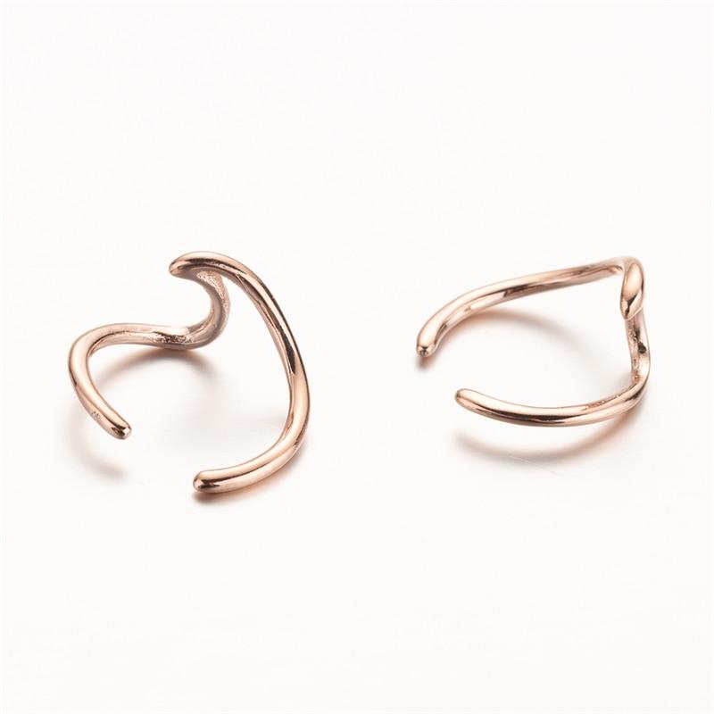 ALI shop ...  ... 32990144427 ... 5 ... Yiustar Wave Ear Cuff Wave Cartilage Earrings Women Stainless Steel Twisted Ear Cuff Boho Jewelry Fake Conch Piercing Ear Studs ...