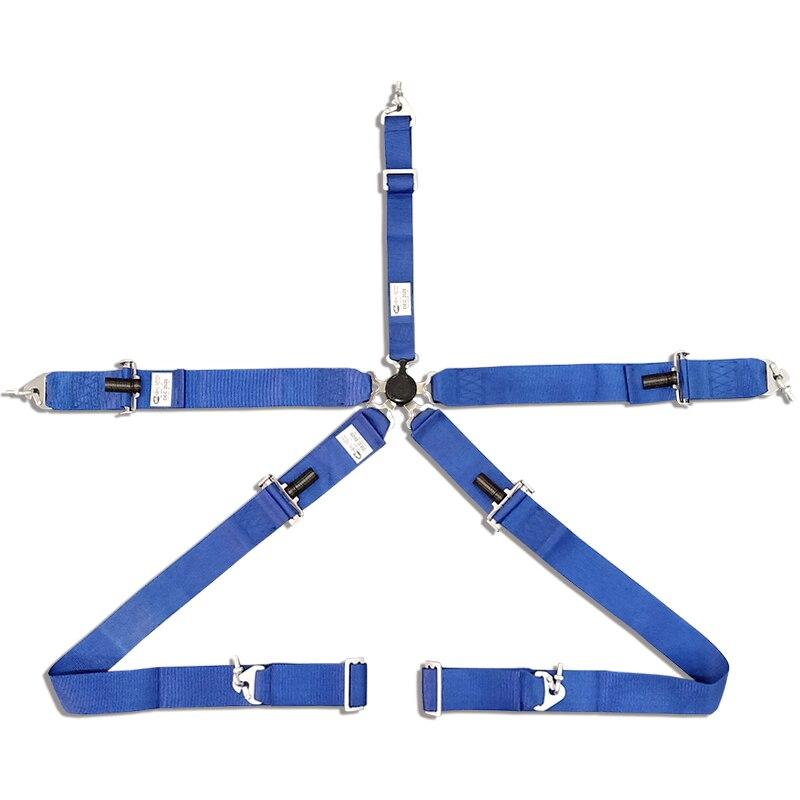 2 pcs/lots SFI 16.1 évalué 5 Point 3 pouces course harnais de sécurité sécurité Cam Lock Pull Up DEC2020 bleu et rouge