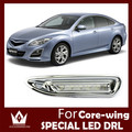 Guang Dian CAR-Específico Para Mazda 6 Core-asa 2010-2012 DRL LED Daytime Running Luz drl estilo do carro de alta brilhante de alta qualidade