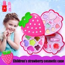 New childrens makeup cosmetics toys playing pretend nail polish lip gloss eye shadow set
