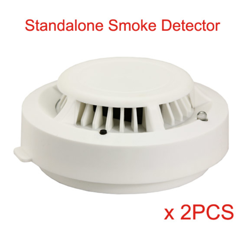 2PCS/Lot Standalone Photoelectric Smoke Detector Fire Alarm DP-430 Smoke Sensor with CE RoHs Certification 9V battery operated