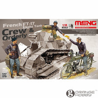 OrangeHobby Meng HS005 1 35 Crew And Orderly For French FT17 Light Tank Miniatures Assembly Military
