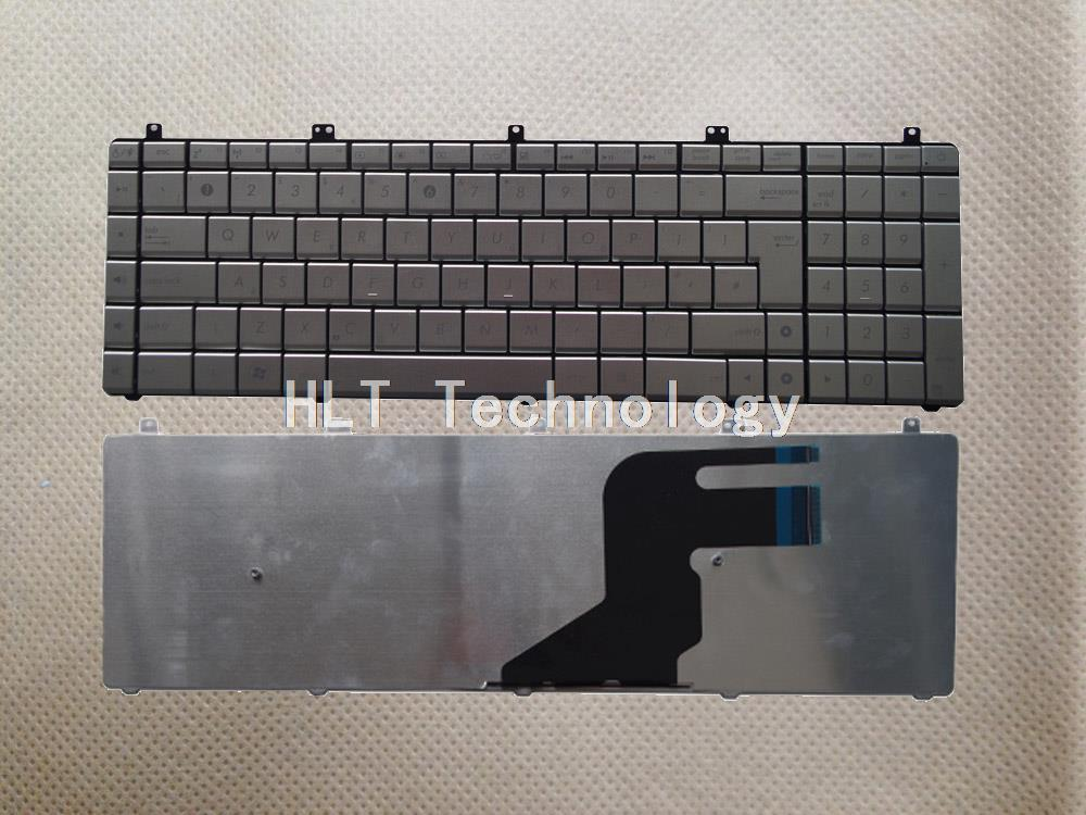 Original and New Silver US <font><b>keyboard</b></font> for <font><b>ASUS</b></font> N55 <font><b>N55S</b></font> N75SF N55SL N75 N75SF N75SL N75S N55SF Good work! image