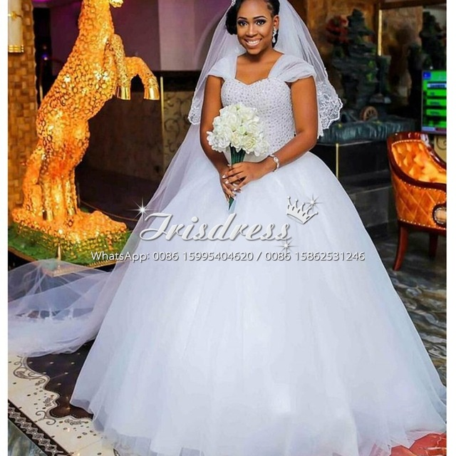 Bellanaija African Ball Gown Wedding Dresses 2017 Crystals White ...